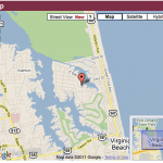 google map of Bay Colony in Va. Beach